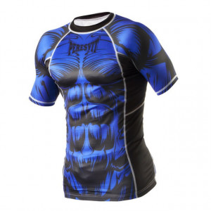 Рашгард Peresvit Beast Silver Force Rashguard Short Sleeve (401022-205) Blue р. XL